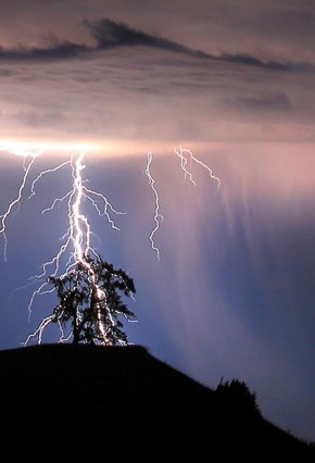 Bushwalking safety - beware of lightning when it strikes